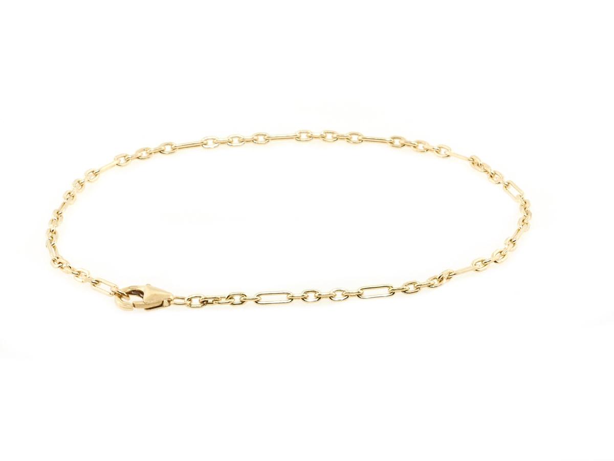 Trabert Goldsmiths Yellow Gold Chain Bracelet