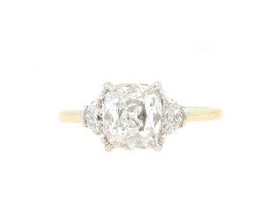 Trabert Goldsmiths 1.27ct FVVS1 Cushion Diamond Trinity Ring E3148