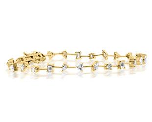 Trabert Goldsmiths Mixed Diamond Tennis Bracelet E3099
