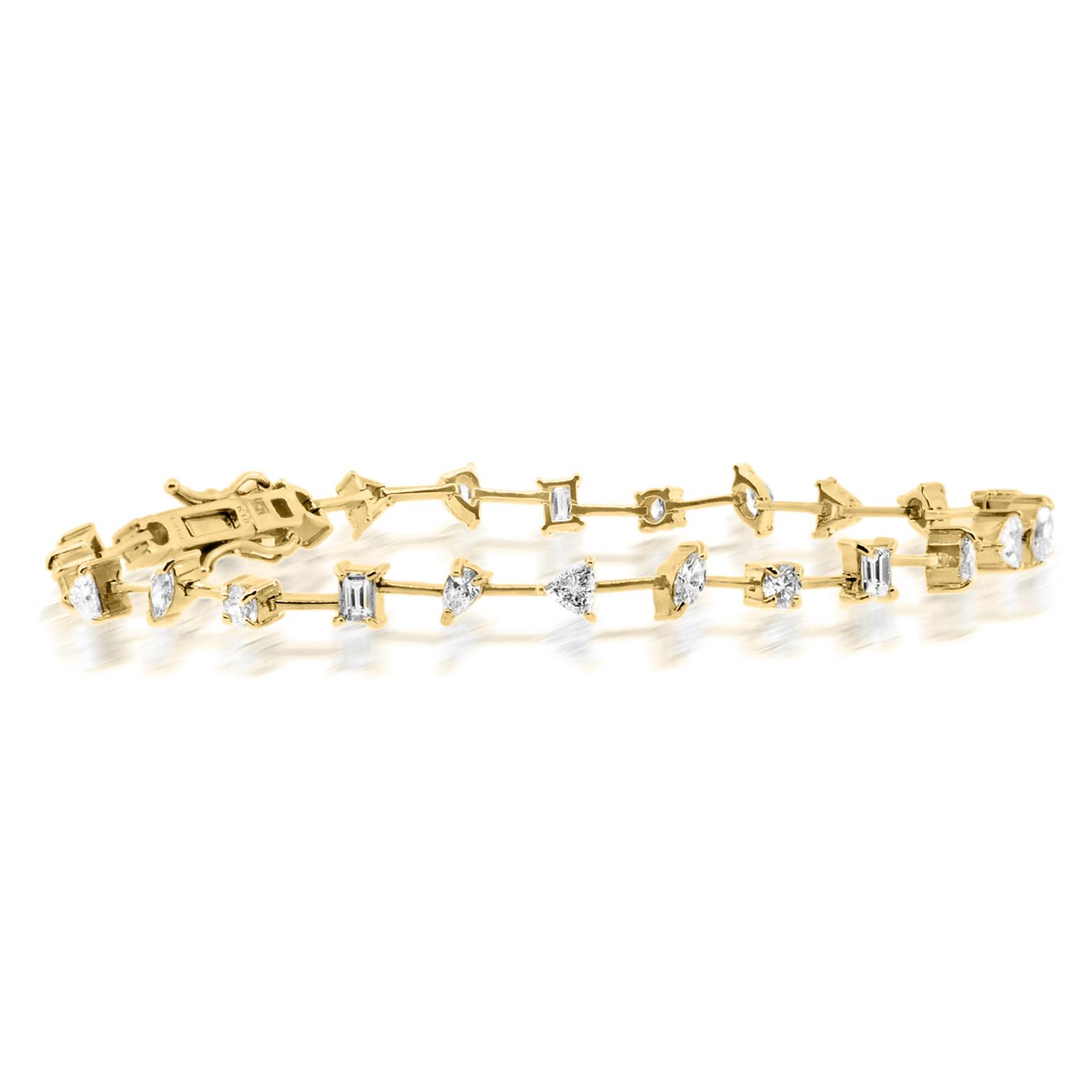 Trabert Goldsmiths Mixed Diamond Tennis Bracelet