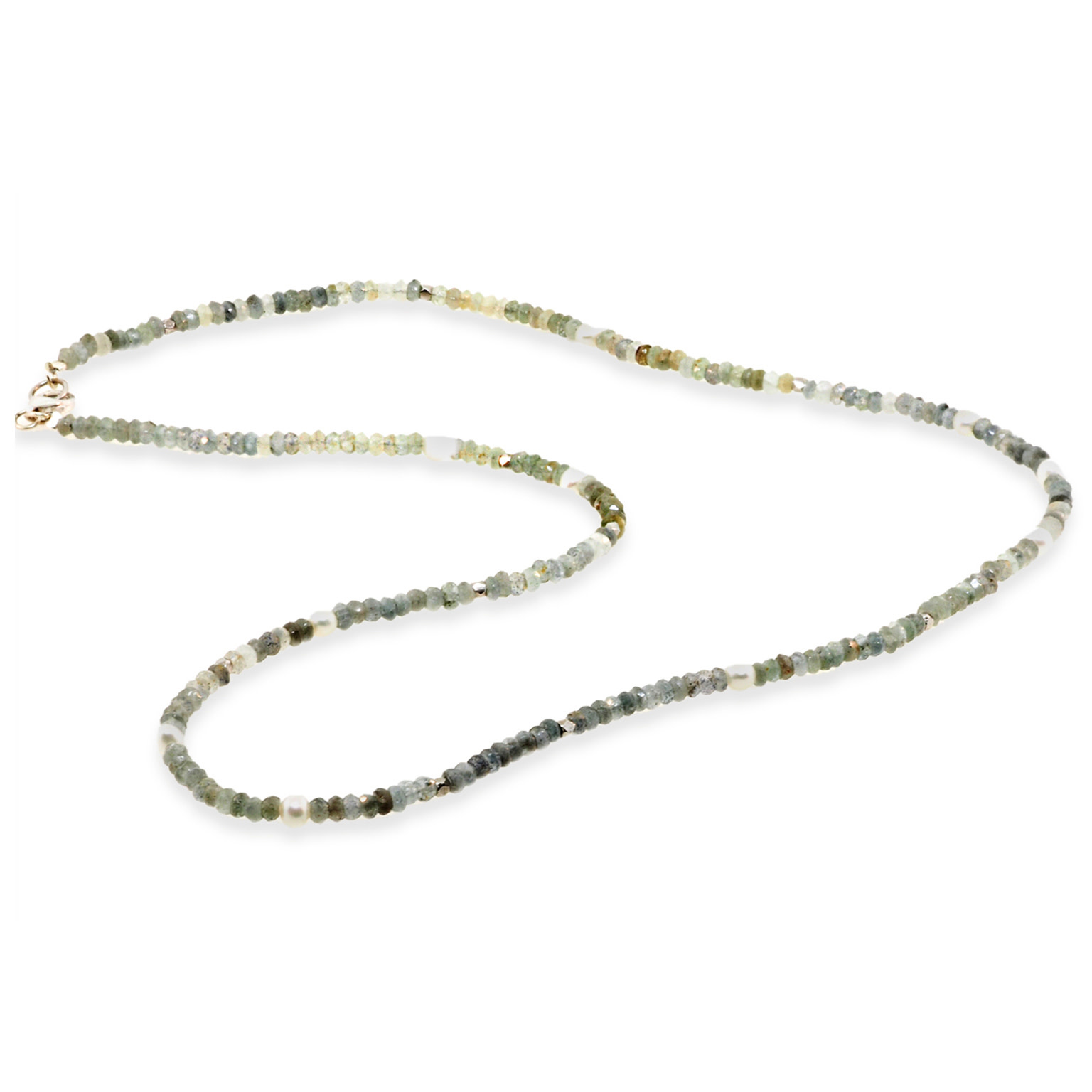 Trabert Goldsmiths Natural Sapphire and Pearl Beaded Necklace