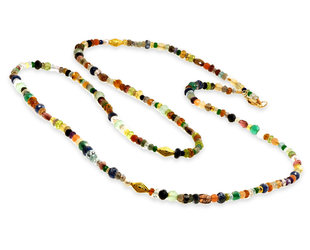 Trabert Goldsmiths Multi Gemstone Beaded Necklace E3105