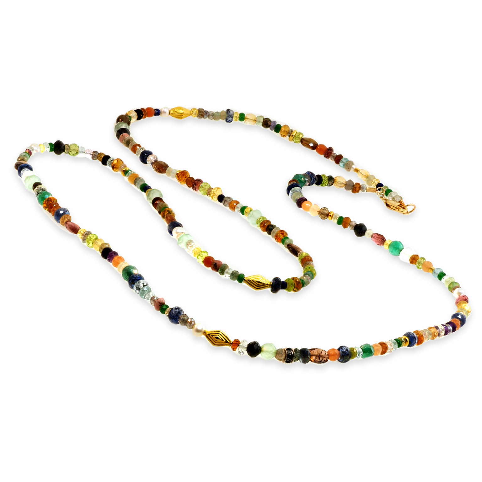 Trabert Goldsmiths Multi Gemstone Beaded Necklace