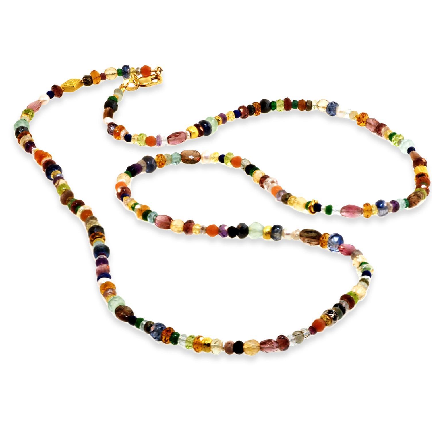 Trabert Goldsmiths Multi Gemstone Beaded Necklace E3106