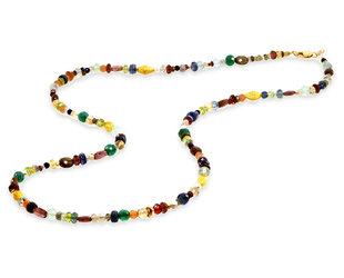 Trabert Goldsmiths Multi Gemstone Beaded Necklace E3107
