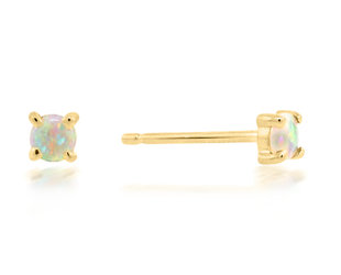 Trabert Goldsmiths Mini Opal Earrings E3113
