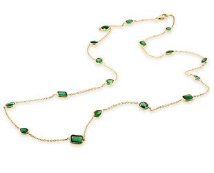 Trabert Goldsmiths Emerald By The Yard Necklace E3114