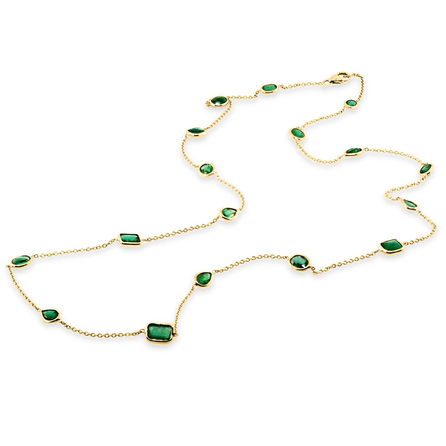Trabert Goldsmiths Emerald By The Yard Necklace