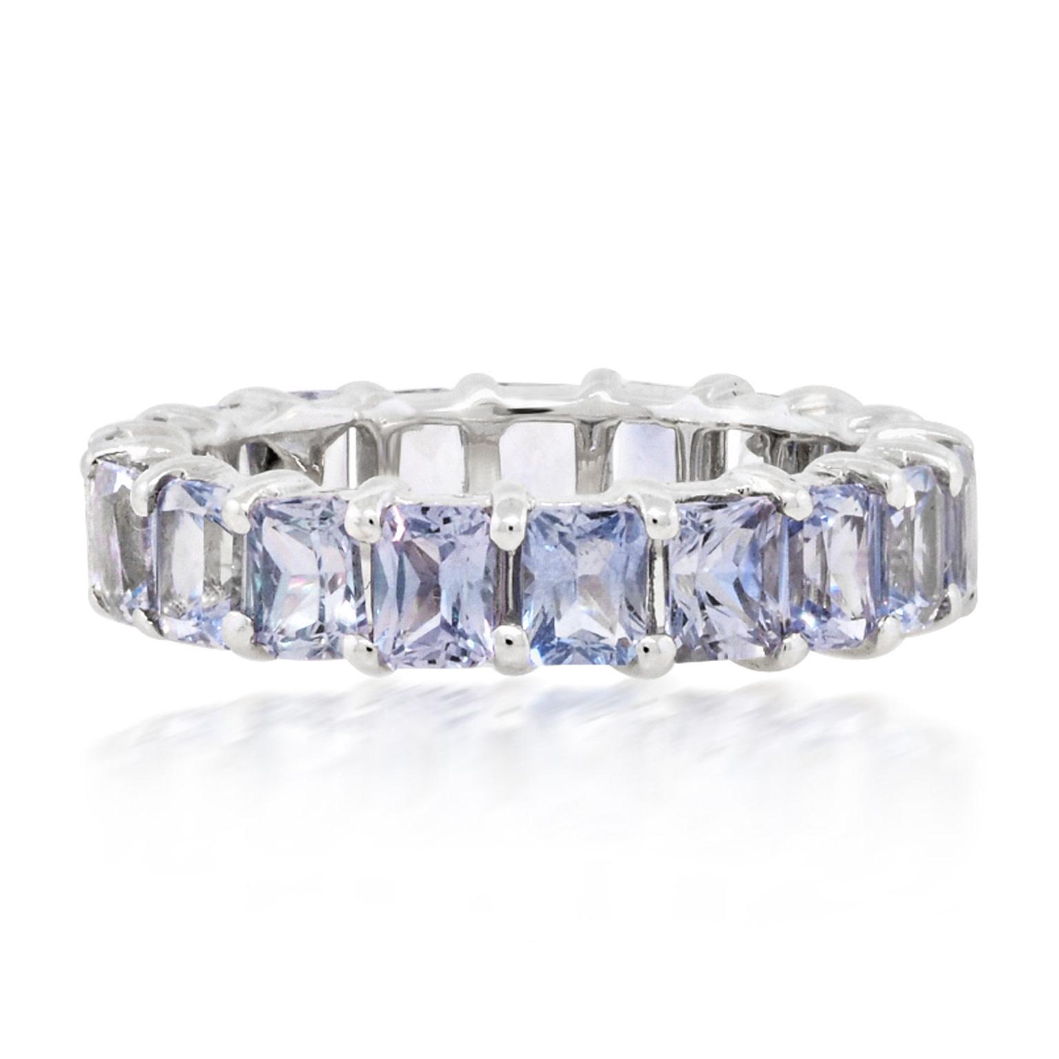 Trabert Goldsmiths Pale Blue Sapphire Eternity Ring