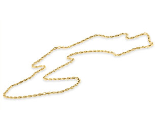 Trabert Goldsmiths Vintage Twisted Link Yellow Gold Necklace E3126