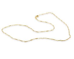 Trabert Goldsmiths Vintage Bar Link Yellow Gold Necklace E3127