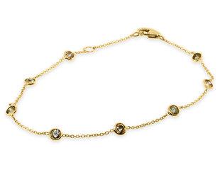 Trabert Goldsmiths Champagne Diamond Yellow Gold Bracelet E3131