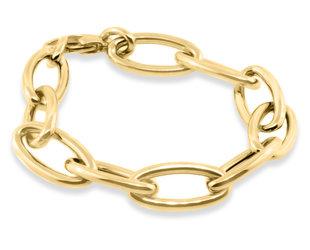 Trabert Goldsmiths Large Oval Link Yellow Gold Bracelet E3144
