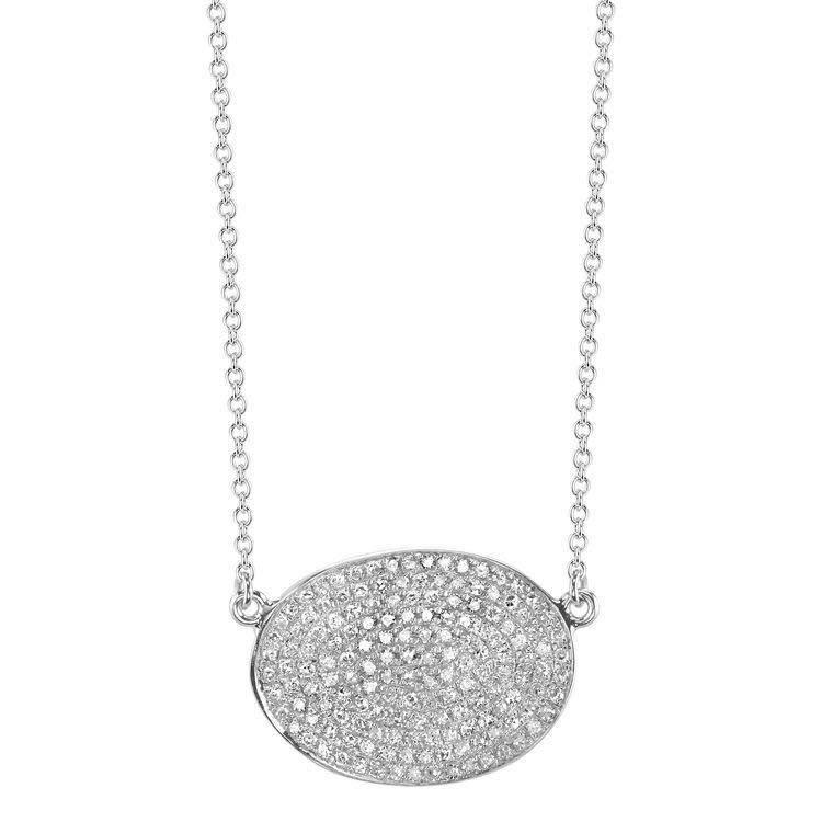 Shay Freeform Oval Pave Diamond Necklace