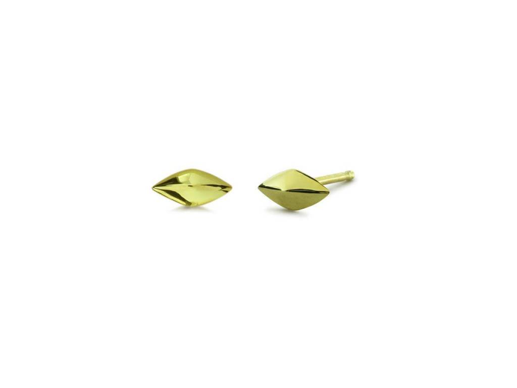Tiny Gold Faceted Stud Earrings