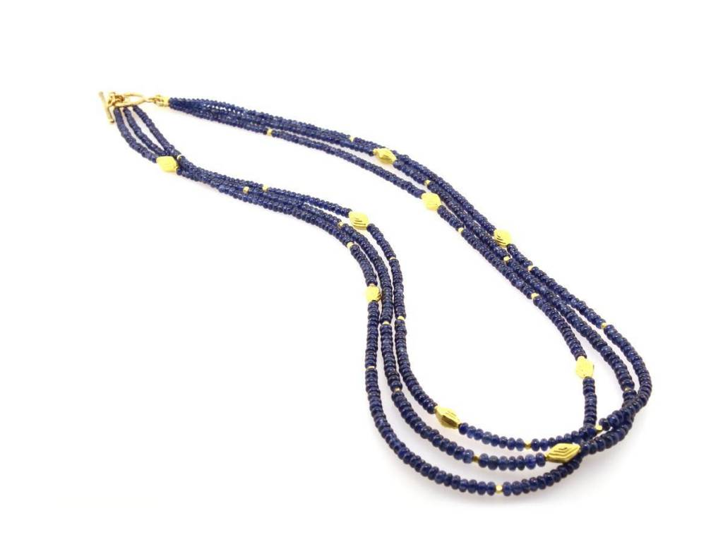 Trabert Goldsmiths Multi Strand Sapphire Necklace