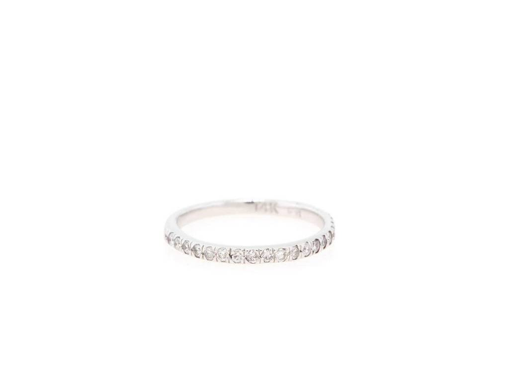 Trabert Goldsmiths Pave Diamond Midi Ring
