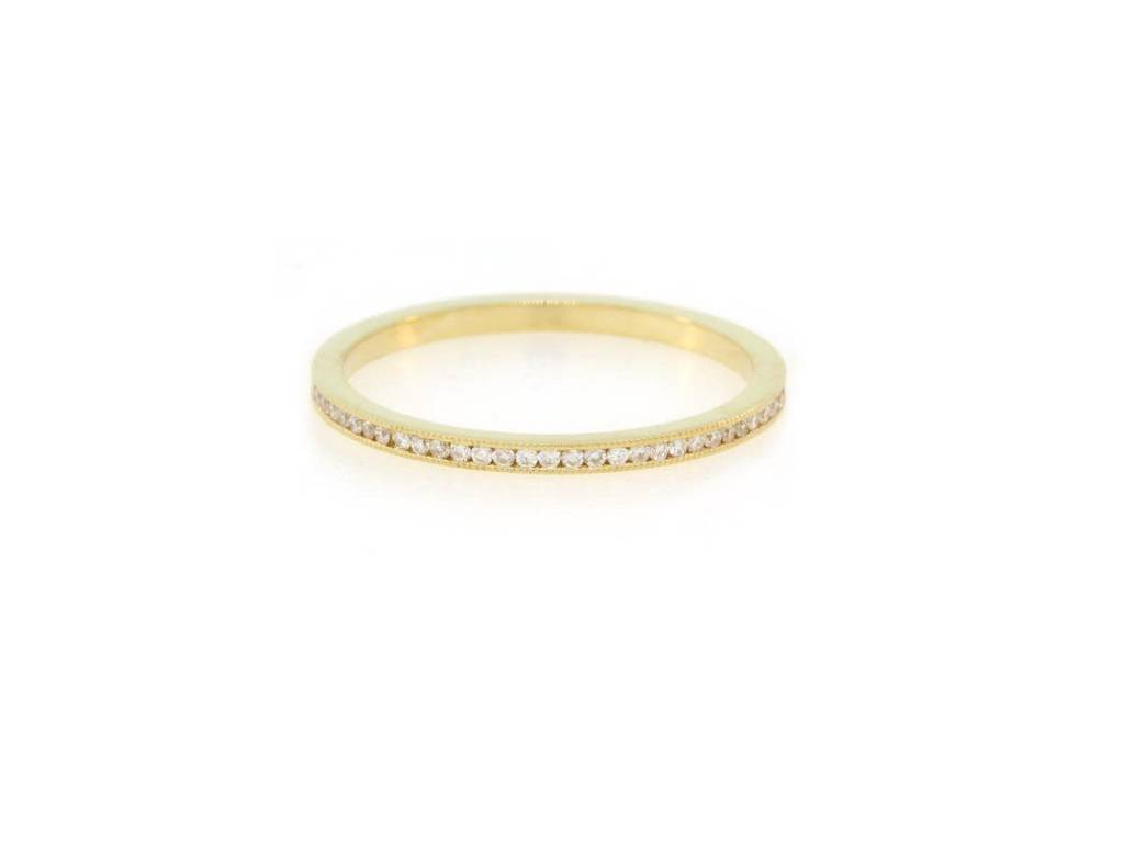 Trabert Goldsmiths Gold Channel Set Diamond Eternity Band