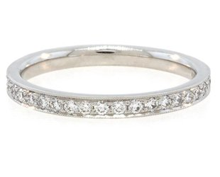 Trabert Goldsmiths Classic Pave Dia Plat Eternity Band E1306