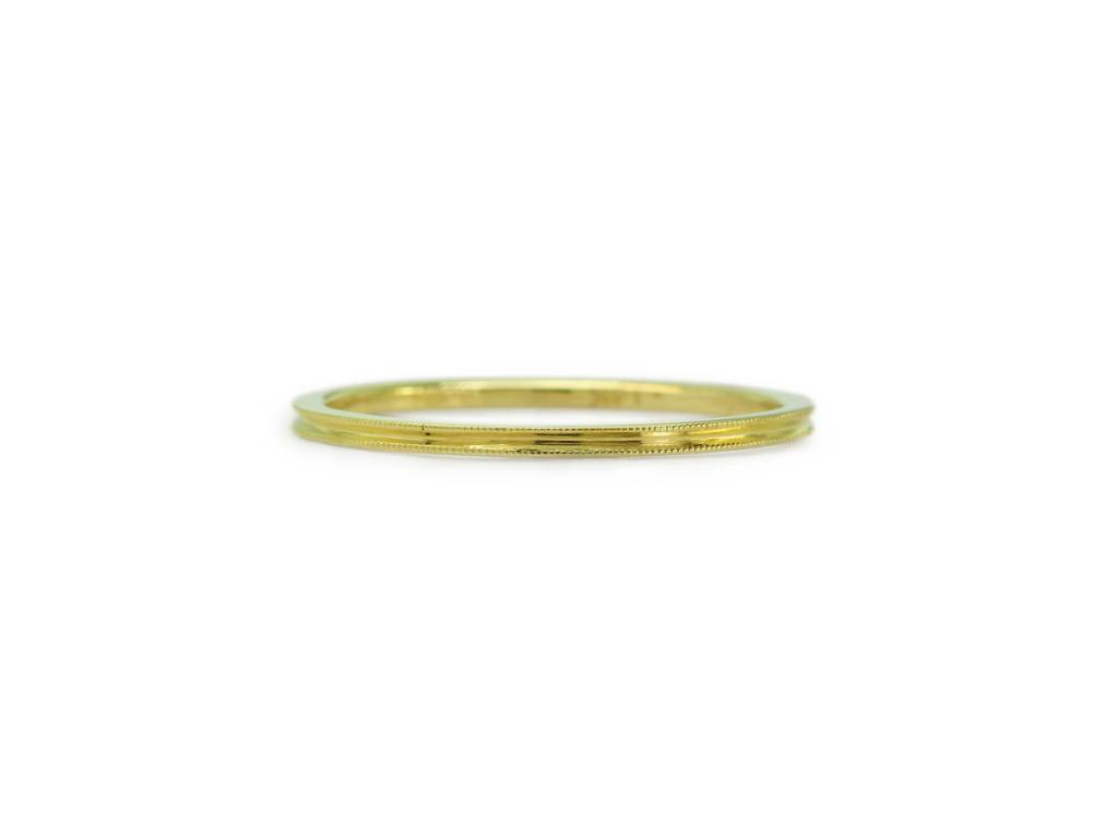 ILA Delicate Ridged Gold Band
