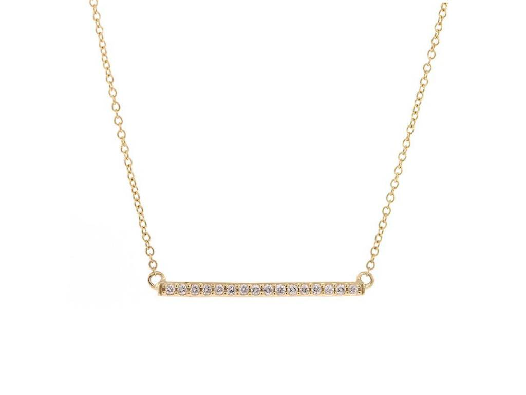 Trabert Goldsmiths Diamond Bar Necklace
