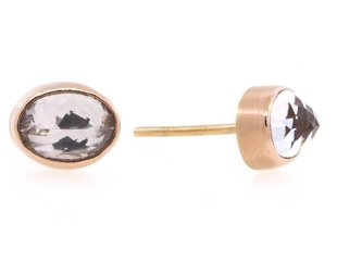 Jamie Joseph Jewelry Designs Oval Morganite Stud Earrings JD83