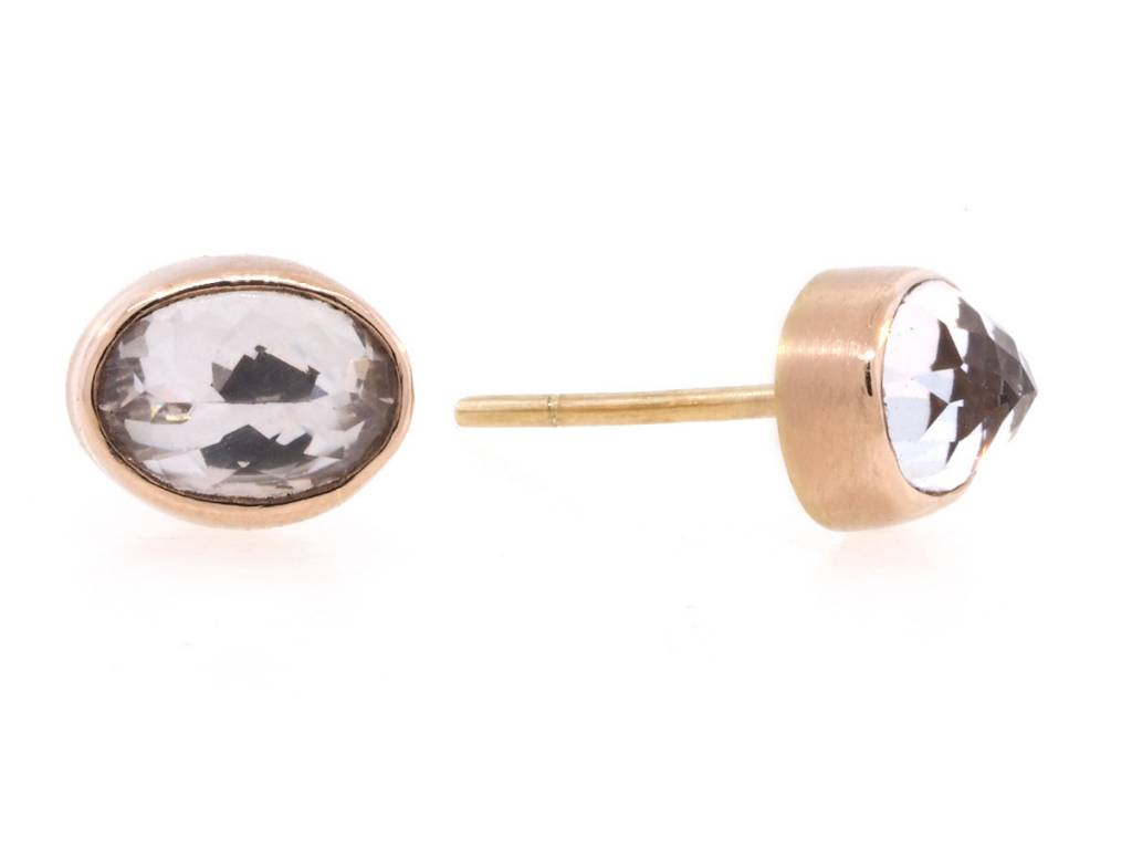 Jamie Joseph Jewelry Designs Oval Morganite Stud Earrings