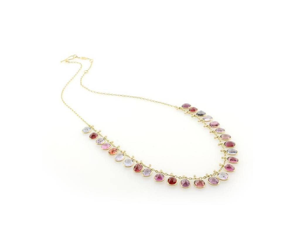 Kothari Spinel Fringe Necklace