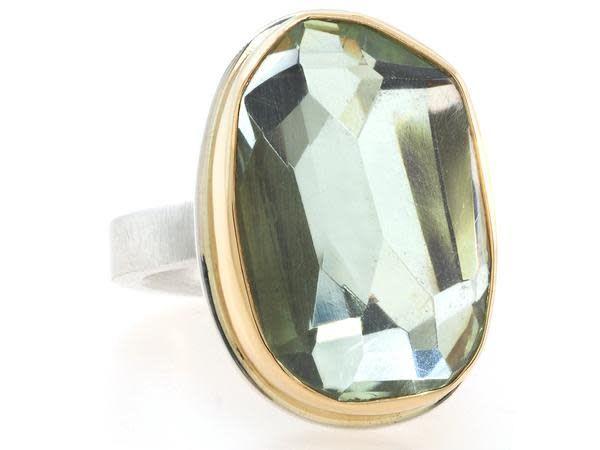Jamie Joseph Jewelry Designs Faceted Mint Quartz Ring
