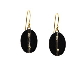 Kothari Oxidized Diamond Strait Earrings T295