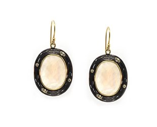 Kothari Rainbow Moonstone Water Flow Earrings T293