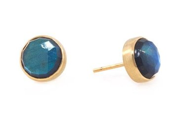 Jamie Joseph Jewelry Designs Rose Cut Labradorite Stud Earrings JD102