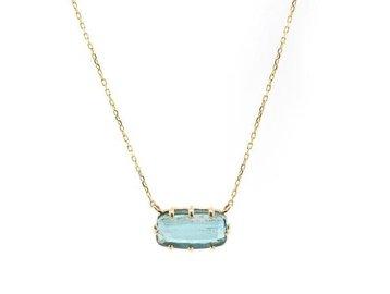 Jamie Joseph Jewelry Designs Multi Prong Blue Tourmaline Necklace JD75