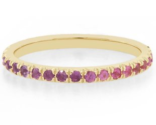 Trabert Goldsmiths Ombré Rainbow Sapp Eternity Band E1364