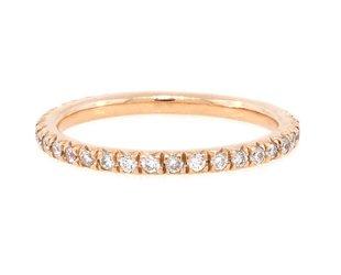 Trabert Goldsmiths French Pave Diamond Pinky Ring E1384