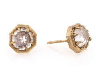 Lauren Wolf Moonstone Octagon Stud Earrings LW3