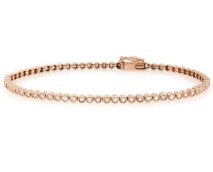 Tony Maccabi Designs Bezel Set Dia Rose Gold Tennis Bracelet TM28
