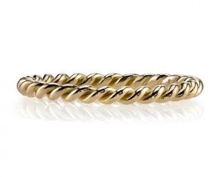Single Stone 'Lara' Twisted Rose Gold Band