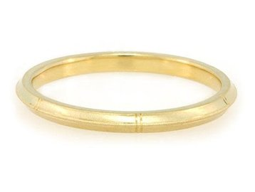 Erika Winters Rose Milgrain Gold Band EW13