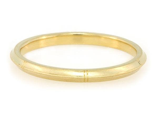 Erika Winters Rose Milgrain Gold Band