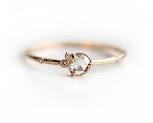 Melanie Casey Flurry Rose Cut Diamond Cluster Ring ME5