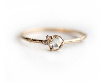Melanie Casey Flurry Rose Cut Diamond Cluster Ring ME5
