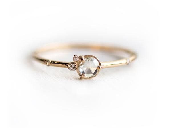 Melanie Casey Flurry Rose Cut Diamond Cluster Ring