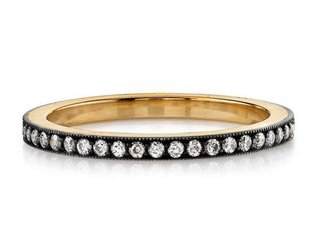 Molly' Oxidized 18k and Silver Pave Eternity Band