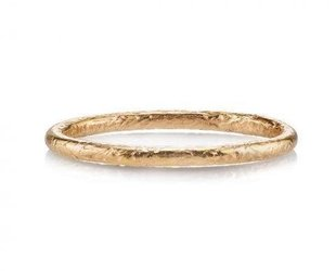 Single Stone Jane Rose Gold Textured Ring
