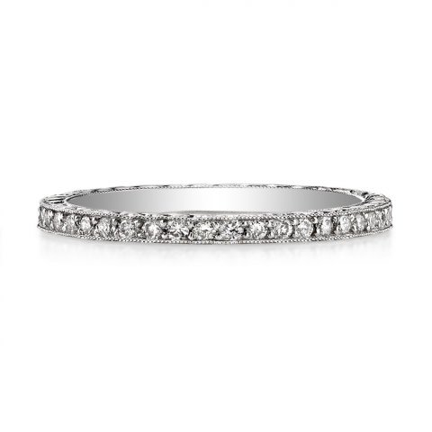 Single Stone Molly Old European Cut Diamond Eternity Band