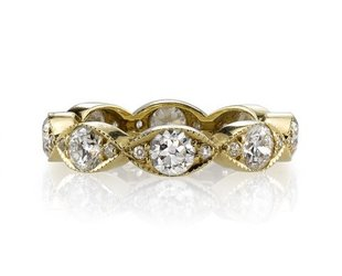 Single Stone Large Marquise Dia Eternity 'Kelly' Band SI98