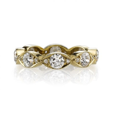 Single Stone Large Marquise Dia Eternity 'Kelly' Band
