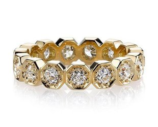 Single Stone Hexagonal Eternity Dia Stella Band SI129