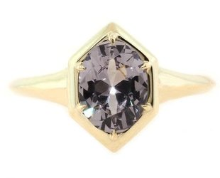 Trabert Goldsmiths 1.32ct Oval Spinel Geometric Ring E1377